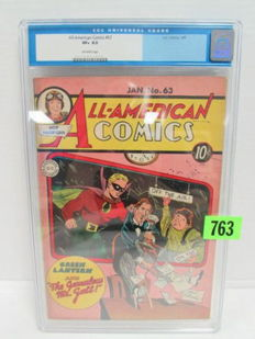 All American Comics #63 - Featuring Green Lantern - CGC Graded 8.5 - Super Rare!!! - (1945)