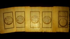 Islam; Lot with 5-leaf Ottoman manuscript - 1850 or earlier
