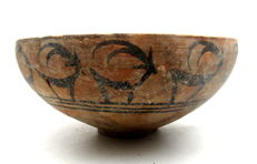 Indus Valley Painted Terracotta Bowl depicting Deer -  180x80mm