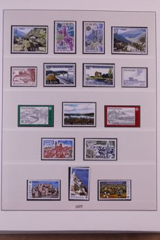 Europa Stamps 1977/1984 - Complete collection in Lindner Falzlos T-type preprint album