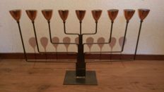 Menorah (9-arm candle holder for tea lights)