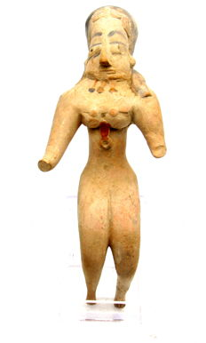 Indus Valley Terracotta Seated Female Fertility Idol  / Figurine  - 158mm
