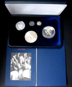 The Netherlands - Liberation collection 1945–1995 ´Wilhelmina in London re-strike´ - silver