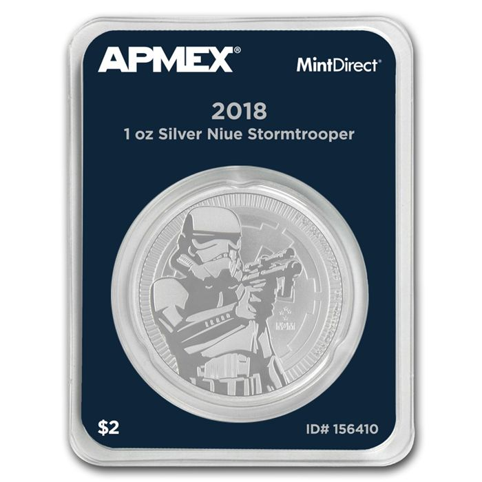 Niue - 2 Dollars 2018 'Star Wars Storm Trooper' in Mint Direct packaging - 1 oz silver