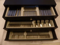 Cutlery case, 150 pieces, entirely complete