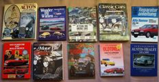 Automobile books; Lot with 10 publications on spectacular Automobiles - 1967/2004