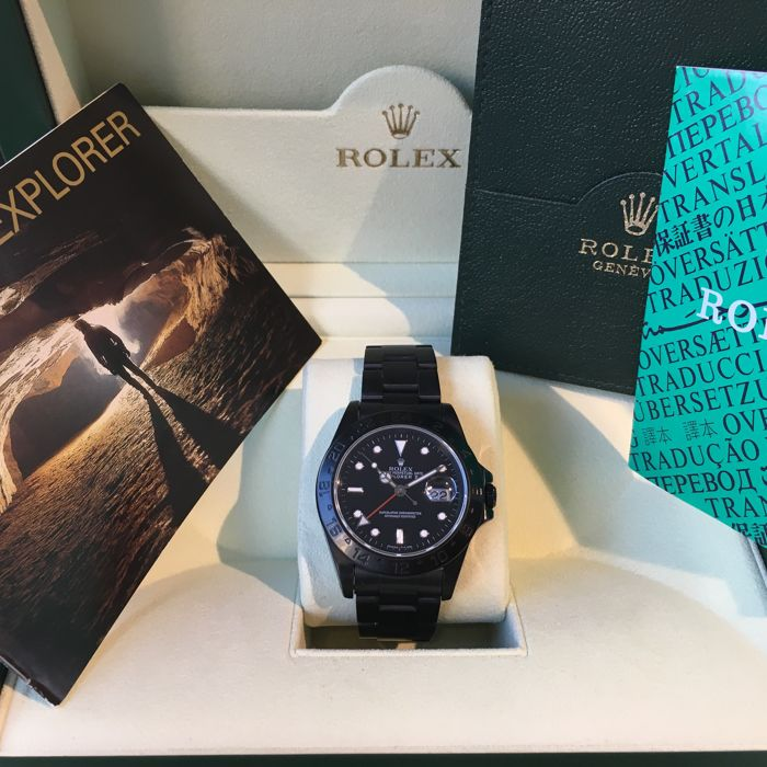 "Rolex -Explorer II ref. 16570 ""Hunter"" Black PVD / DLC"