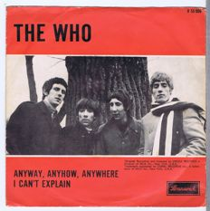 "THE WHO: 7"" Single with Picture Sleeve: Anyway Anyhow Anywhere / I Can't Explain (Brunswick O 55006) Holland 1965 PS 45"