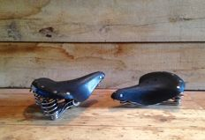 Brooks - 2 leather bicycle saddles B68S - second half of 20th century