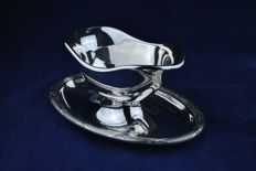 "Christofel FRANCE Silver Plated ""Sauciere"" / Sauce Boat / Serving Dish"