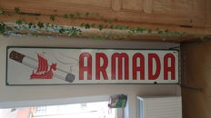 Armada enamel sign