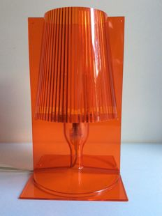 "Ferruccio Laviani for Kartell – table lamp in transparent red model "" TAKE """