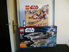 Star Wars - 8092 + 8095 - Luke's Landspeeder + General Grievous' Starfighter