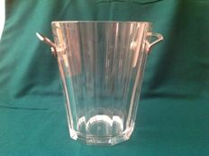 Baccarat, 'Maxim' silver plated crystal ice bucket