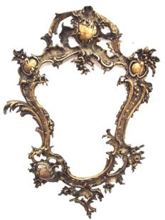 Large brass/bronze mirror frame in Louis XV style - Italy - ca. 1920