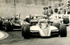 2 x B & W period Photographs Monaco Grand prix 1982 & 82 Patresse winner 83 Rosburg   Michael Hewett Photographer