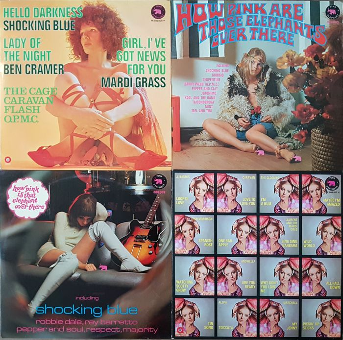 4 very collectible compilation albums on pink elephant records