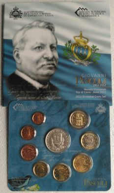 San Marino – Euro 2012 Portfolio Set – Includes 5 Euros Commemorating 'Giovanni Pascoli'