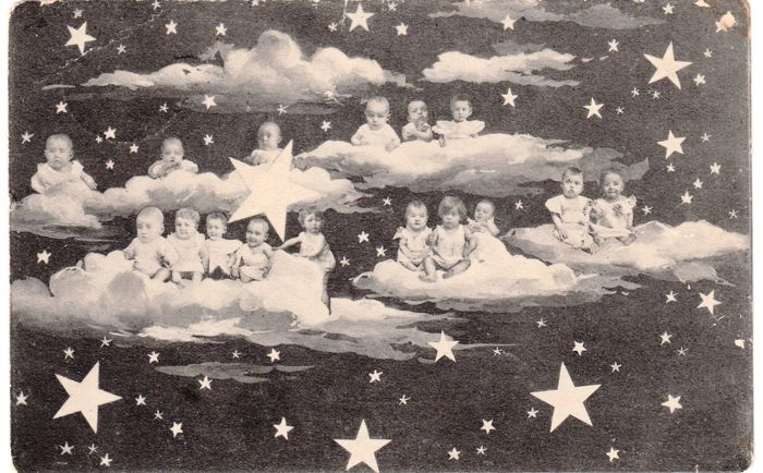 """""""Multibebe"""" - Group of newborns - Gorgeous collection of 163 postcards from 1900 to 1945 - 100% vintage original"""