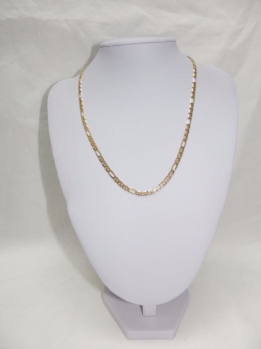 Cartier type nuanced gold chain. 18 kt. 51 cm.