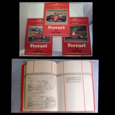 Encyclopedia in 3 volumes of Ferrari history from 1948 to 1985 plus book Life Racing Engines