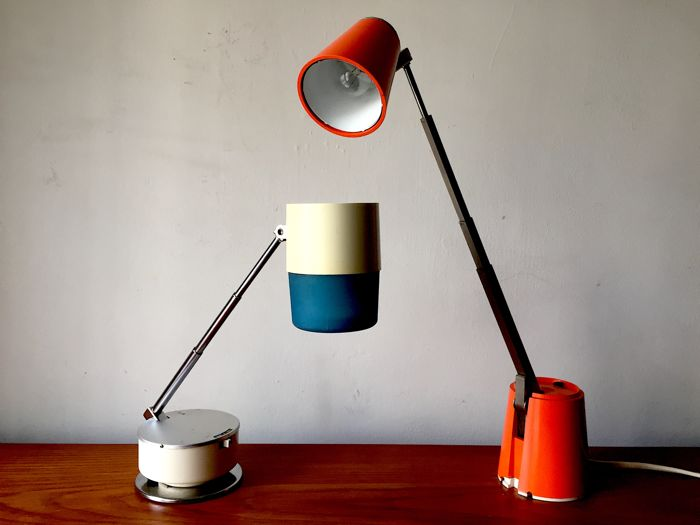 Set Of Two Vintage Desk Lamps (1960s) Lampette And Nanbu Sweet.