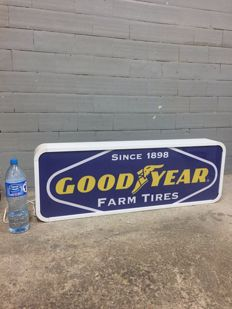 rare GOOD YEAR   large lightbox 106cm x 37m x 12cm illuminated advertising sign - xxl  dealer lemp garage service item sign