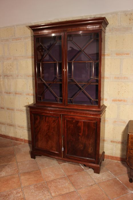 Mahogany secretaire bookcase - first half of the 19th century