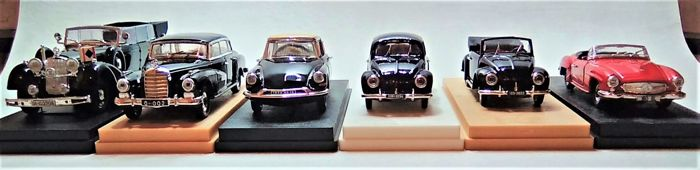 Rio - Scale 1/43 - Lot with 6 models: Mercedes-Benz, VW & Citroën