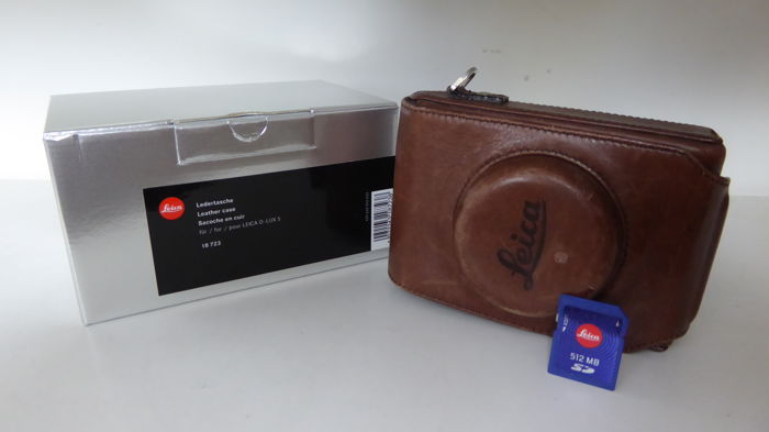 Leica leather Digilux bag with Leica SD Card in original box