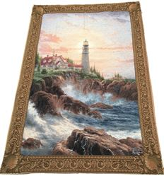Thomas Kinkade Tapestry - Mid of 20th Century - America - 198 cm x 133 cm