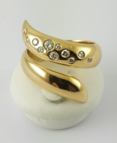 Yellow gold (750) - 'Starry Sky' ring - Diamond ring - 55 grams