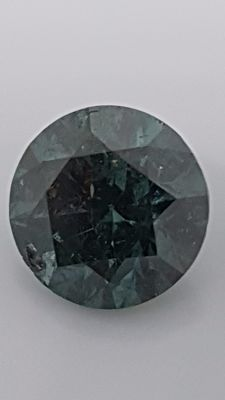 2.19 ct - Round Brilliant - Blue - SI1