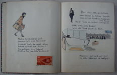 "Travel; Lot with 5 handmade travel reports ""Tante Gita in Zwitserland"" - 1946 / 1951"