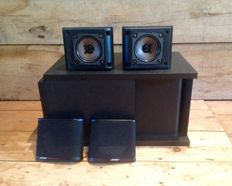 Bose Acoustimass 3 series II: sub woofer with 2 satellite speakers + wall brackets