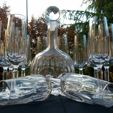 French crystal drinkware by Baccarat & St. Louis