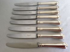 Eight dinner knives Christofle Spatours, ca 2010