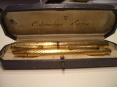 Parure Columbus Extra 1950s consisting of fountain pen
