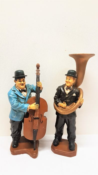 Vintage Laurel and Hardy as musicians/52 cm high