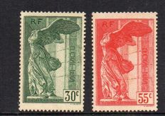 France 1937 – Victory of Samothrace – Yvert no. 354-355