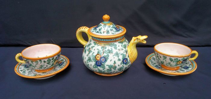 D. Grazia In Deruta - Lot of 3 Majolica Ceramic Pieces - Hand Painted