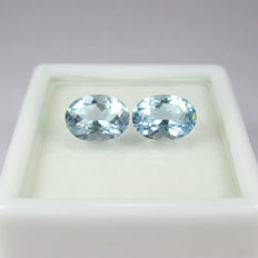 1.87 Ct - Aquamarine Pair - No reserve price