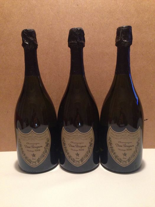 2006 Dom Perignon Brut Millesime, Champagne, France – 3 bottle (0.75l)