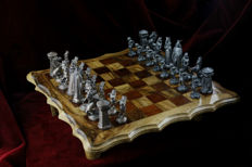 Old Orginal Chess- Wood and Lead- Very Heavy