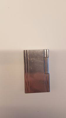 Silver-plated lighter Dupont Paris type Ligne 1