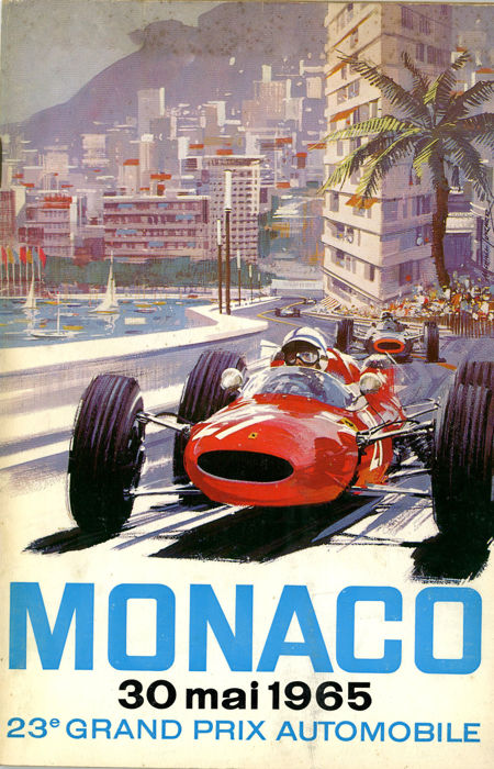1965  Monaco Grand Prix Programme Phil Hill John Surtees Ferrari Jim Clark
