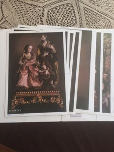 Collection of 14 prints 'Il Presepe nepoletano' by the master Marco Ferrigno
