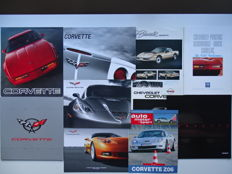 "1984 - 2013 - CHEVROLET ""Corvette"" V8 Super Car - mixed lot of 10 original sales brochures"