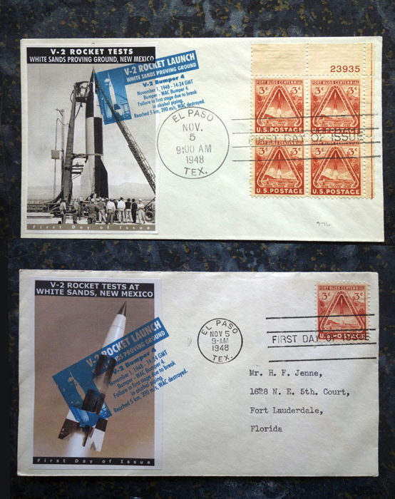 2 US FDC El Paso - German V-2 Rocket in the United States