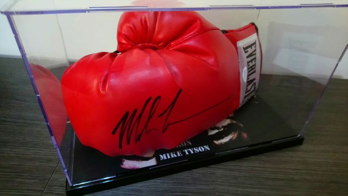 b01c6ea9ce2 Original Everlast boxing glove signed by Iron Mike Tyson with JSA  Certificate of Authenticity.